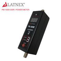 LATNEX PM-100W 125-525 MHz Mini Digital VHF/UHF Power Meter & SWR Meter