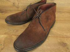 Alden J Crew Plain Toe Brown Suede Chukka Ankle Boots Size 10.5