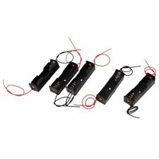 5Pcs 1 x 1.5V AA Dual Cable Battery Holder Plastic Case Storage Box Black + Y2Y4