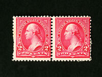 US Stamps # 266 Fresh OG LH + NH Pair Type 2 & 3 Catalog Value $220.00