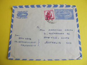India Airmail Envelope to South Australia
