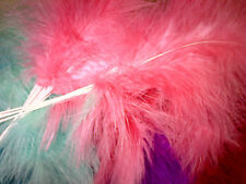Real Marabout Fluffy Wired Feathers X6 Colour Choice Wedding Quality Fascinator Sable Brown