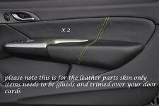 El pespunte amarillo de encaja Honda Civic Type R 06-11 2x Frontal Puerta Tarjeta Moldura Cubre