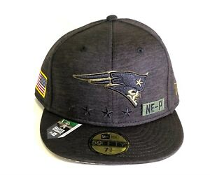 New England Patriots New Era 5950 NFL 2020 Salute To Service Fitted Cap