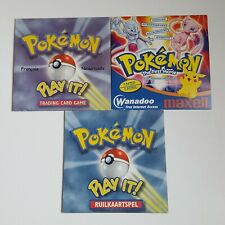 Pokemon 3 CD trading card games