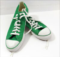 Converse All Star Low Tops Chuck Taylors Green Unisex Mens 10 Women 12 Pre Owned