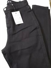 Misguided Black Jeggings Size 14 Ref Cl3