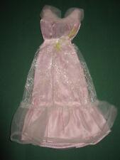 (75) antiguo vintage BARBIE mod vestido rosa & White Light the Night #9738 mattel 1977