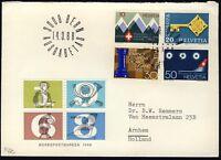 """SUISSE / SWITZERLAND / SCHWEIZ 1968 Mi.870/3 """"Special Issues"""" set on FDC"""