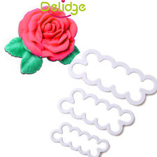 3pc FMM Cutter- Smaller Easiest Rose Ever Fondant Icing Tool For Cake Decoration