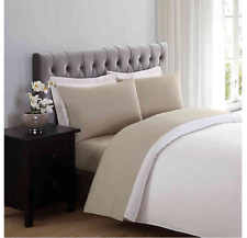 Truly Soft Everyday King Sheet Set in Khaki Wrinkle Resistant - Brand New