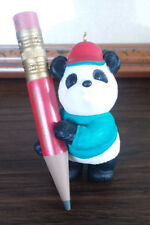 Hallmark SON - Panda with Pencil -1995 Christmas Ornament
