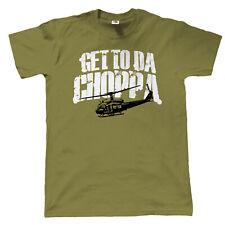 Get to Da Choppa T-Shirt - Movie Inspired Predator Arnie 80's Retro Sci-Fi Alien