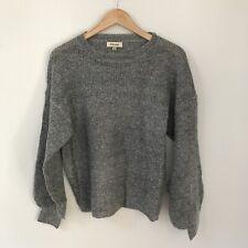 8 Birdies Grey Winter Knit Jumper Sweater, Size Medium / AU 10