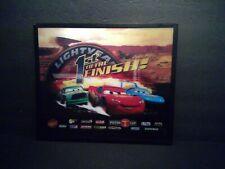 "Disney Pixar World Of Cars Lightning Mcqueen 3D Holographic Wall Decor 14"" x 12"""