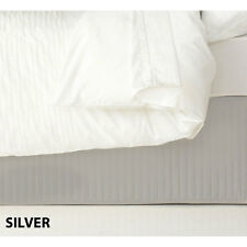 Ardor Quilted Valance - Silver, Queen Bed