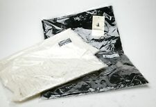 """NWT Men's Two Cashmere, Black & White, Scarfs. Made By Wolfmark. 12x68"""". Sealed."""