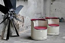 Sessel aus 200l Ölfass Metallfass Gastro Bar Pulverbeschichtung nach Wahl