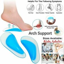 Silicone Gel Arch Support Insoles Flat Feet Support Gel Soft Pads Orthopedic UK