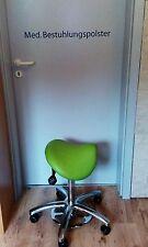 Sattelhocker Rollhocker Arbeitsstuhl Arztstuhl+Fußauslösung NEU (Farbe n. Wahl)