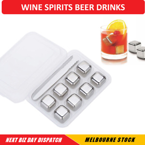 Stainless Steel Ice Cube Ice Block Set Of 4/8 Wine Spirits Whisky Beer Cold Drin