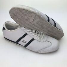 Lacoste Mens Size 11 44.5 Tourelle Pit SPM White Leather Fashion Sneaker Casual