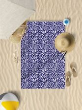 "58""x39"" Purple Leopard Print Microfibre Beach TOWEL Sun Bathing TOWEL ONLY"