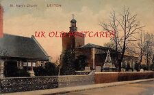 LONDON, E10 Church of St. Mary the Virgin, LEYTON - Printed Postcard.