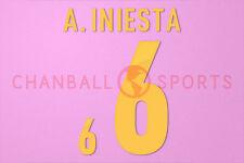A. Iniesta #6 EURO 2012 Spain Homekit Nameset Printing