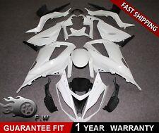 Unpainted ABS bodywork fairing kit White for KAWASAKI Ninja zx6r 636 2013-2018