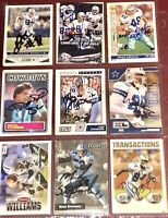 former Dallas Cowboys NFL auto autograph football card LOT Roger Staubach +more
