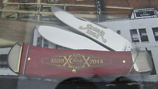 Case 2014 Dealer Knife Commemorative Smooth Red Bone Panama Trapper #448