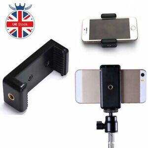 UK Mobile Phone Clip Adapter Universal For Tripod Monopod Holder Clamp Bracket