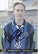 Koen Schockaert  FC Brügge Fußball Autogrammkarte signiert 371404