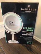 Danielle Led Lighted Two-Sided Makeup Mirror, 15X Magnification, Chrome
