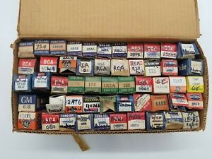 Lot of 85 Electric Electronic Untested Vacuum Tubes - GE Admiral RCA Philco