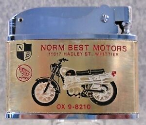 Vintage Norm Best Motors BSA / Honda Motorcycles flat advertising lighter HTF
