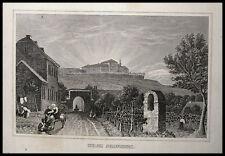 GEISENHEIM JOHANNISBERG. Originaler Stahlstich 1850