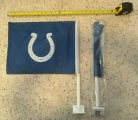 """NFL Indianapolis COLTS CAR FLAG 16"""" by 12"""" - Stadium Giveaway 10/27/19 NEW"""