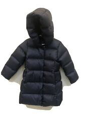 Polo Ralph Lauren Girls Size 3T Quilted Down Long Coat, Puffer Jacket $195 New