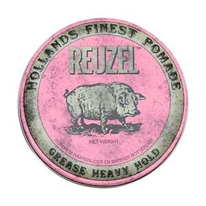 Reuzel Grease Heavy Strong Hold Pink Mens Hair Pomade 113g - UK STOCKIST