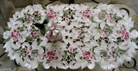 "Doily Royal Rose Dreser scarf Lace  Doily Flower Floral  27"" Red Pink Roses"