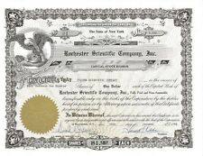 Rochester Scientific Company, Inc. > 1966 New York old stock certificate share