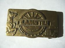 Brass Buckle 1978 Vintage Teamster Solid