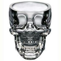 Crystal Glass Vodka Whiskey Skull Head Shot Cup Drinking Ware Home & Bar 73ml v