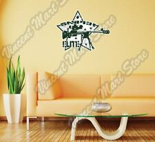 "Elite Sniper Rifle Army Military Wall Sticker Room Interior Decor 25""X20"""