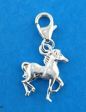 925 Sterling Silver Horse Clip on Charm