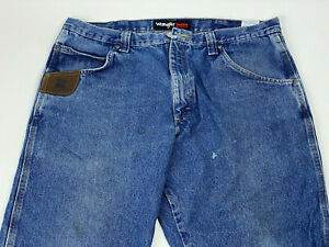 WRANGLER Riggs Workwear 5 Pocket MEN'S Relaxed Fit Jeans #3W050AI Sz 38x30