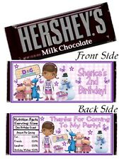 12 Doc McStuffins Birthday Party or Baby Shower Candy Hershey Bar Wrapper Dottie
