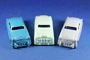 Plasticville - O-O27 - #V-6 Original - Automobile - 3 Blue Cars - Excellent+++++